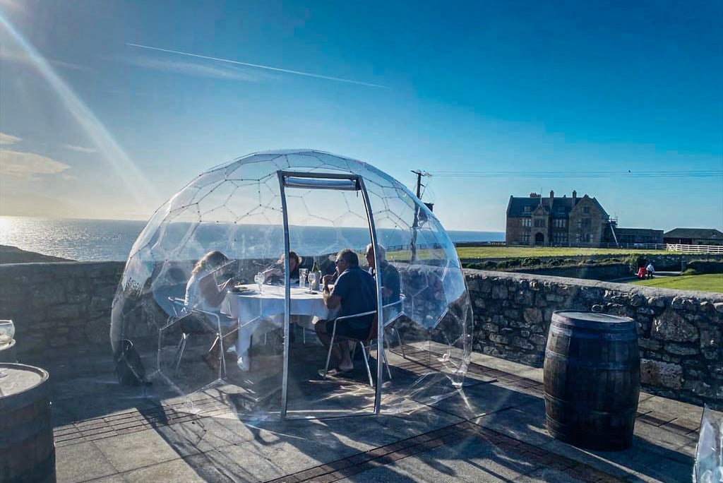 Cape Cornwall Club Dining Pods - Dine With The View