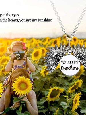 Sunflower Necklace(Free Gift Box)
