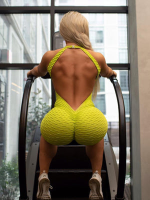 Yoga Pants Short Fitness Backless Jumpsuit