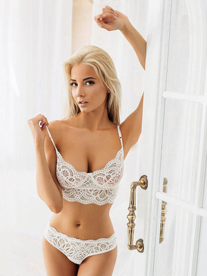 Bra Set Lace Sexy Lingerie Transparent Underwear Set