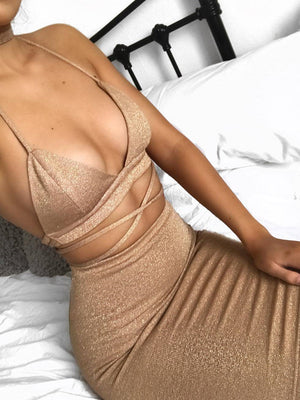 Women Sexy Nightclub Slip Bodycon Dress
