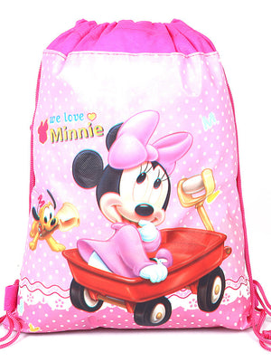 Mickey Minnie Double-sided Printing Drawstring Bag