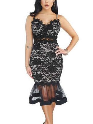 Womens Sheer Mesh Maxi Dress See Through Bodycon Party Dress