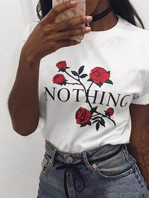 Floral Nothing Printed T-shirt