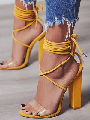 Lace Up High-heeled Sandal