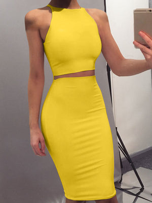 Two-piece Slim Fit Bodycon Dress