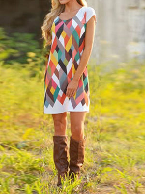 Chic Colorful Printed Dress