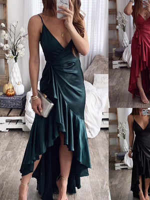 Women's Spring And Summer New Sexy Suspenders V-neck Dress Party