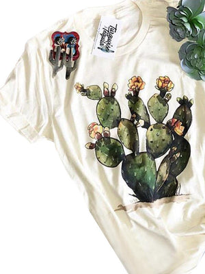 Fashion Women Plants Printed T-shirt