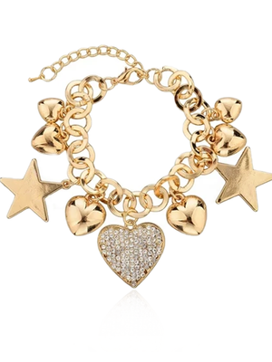 Stars and Hearts Charm Bracelet