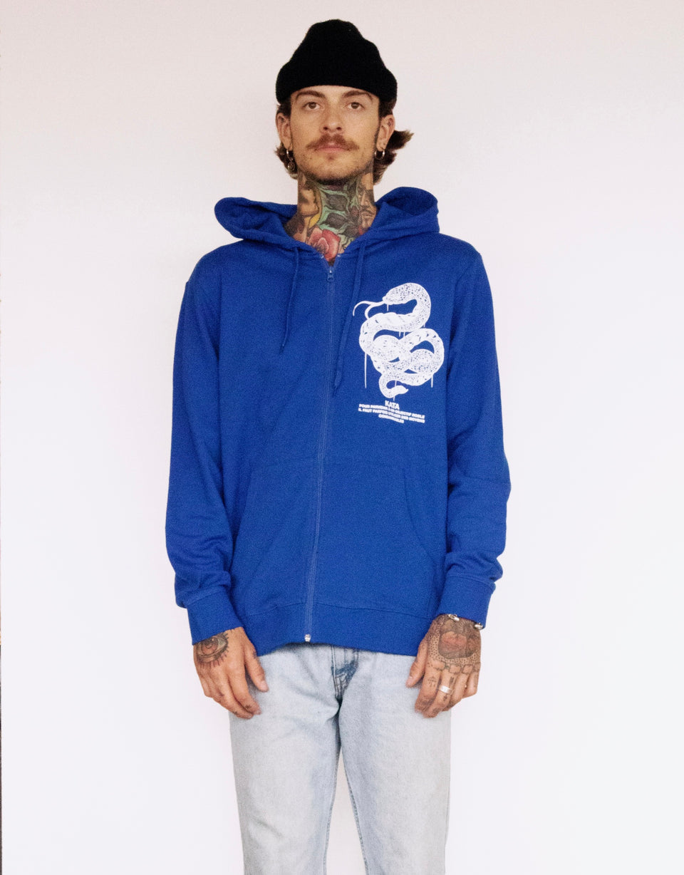 Veste Unlovable Snake - Bleu Royal
