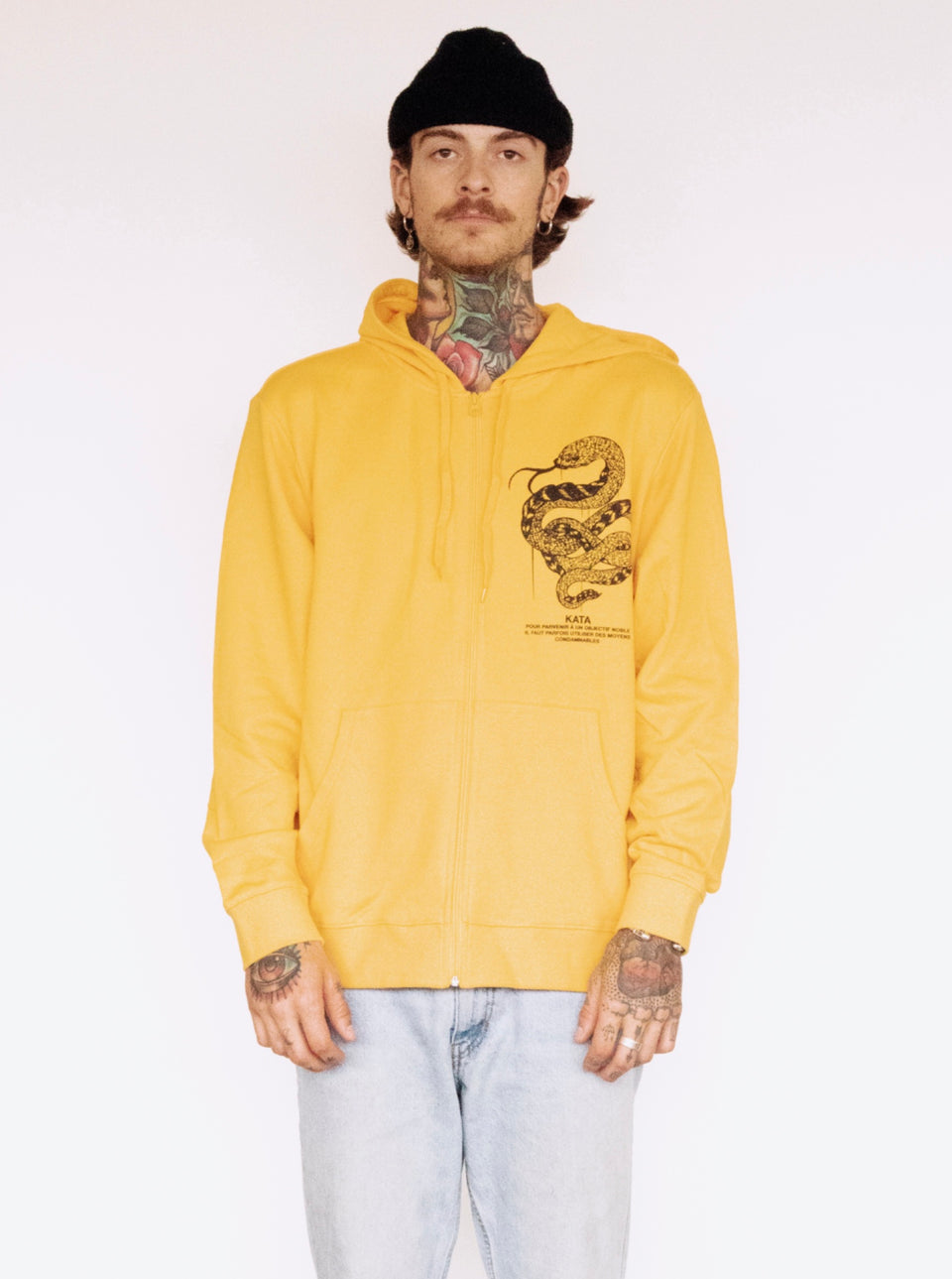 Unlovable Shake Zip Hoodie - Gold & Black