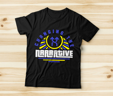 Load image into Gallery viewer, Changing the Narrative 'Blue & Yellow Rays' T-shirt