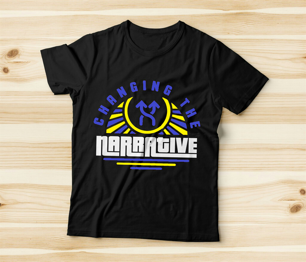 Changing the Narrative 'Blue & Yellow Rays' T-shirt