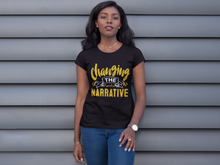 Load image into Gallery viewer, Changing the Narrative 'Golden' Female T-shirt
