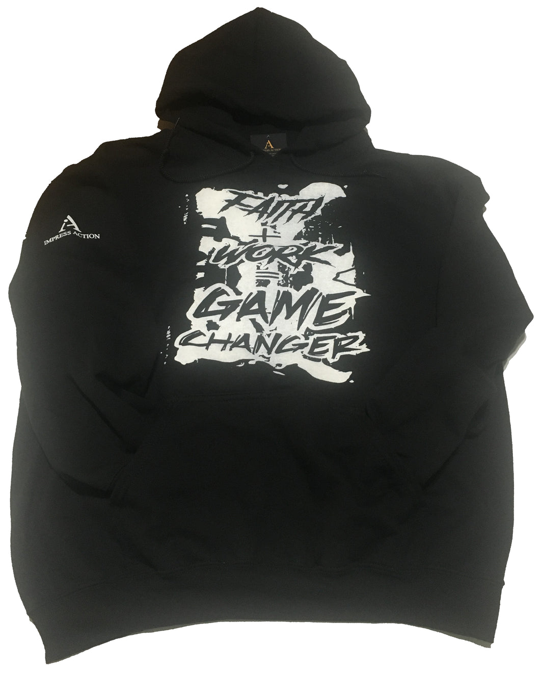 Faith + Work = Game Changer White/Black Hoodie