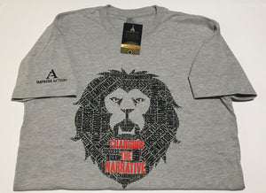 Changing the Narrative 'Lion' Gray/Black T-shirt