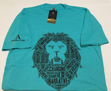 Load image into Gallery viewer, Changing the Narrative 'Lion' Tahiti Blue/Black T-shirt