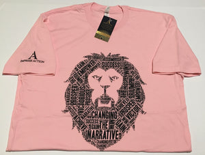 Changing the Narrative 'Lion' Pink/Black T-shirt