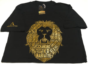 Changing the Narrative 'Lion' Black/Gold T-shirt