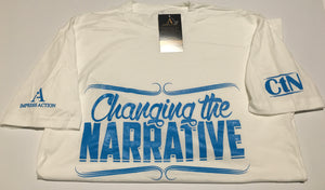 Changing the Narrative White/Blue T-shirt