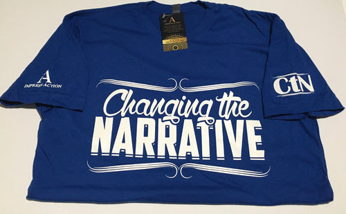 Changing the Narrative Blue/White T-shirt