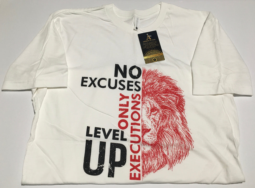 No Excuses Only Executions Level Up 'Red Lion' T-shirts