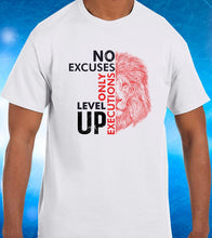 Load image into Gallery viewer, No Excuses Only Executions Level Up 'Red Lion' T-shirts