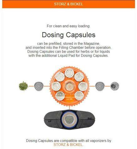 Volcano Magazine With 8 Pcs. Dosing Capsule