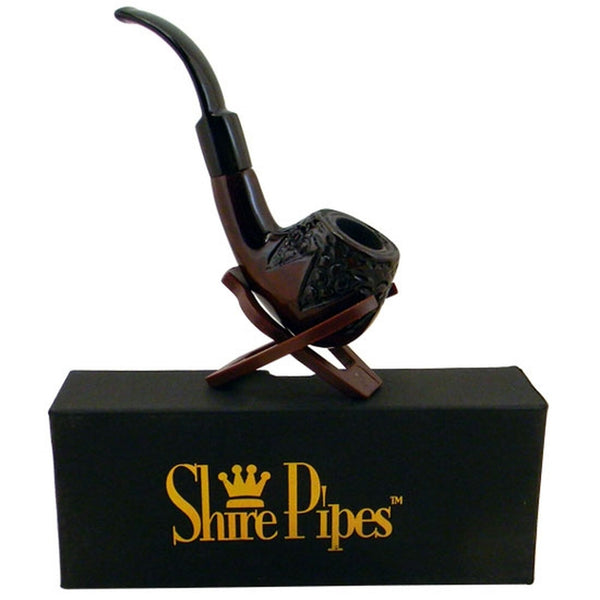 Shire Pipe - Engraved Rosewood Pipe - Default Title - 0