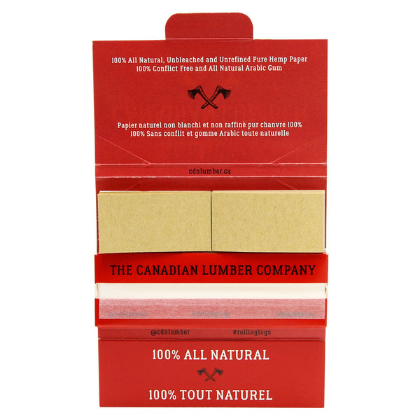 Canadian Lumber - The Hippy 50/50 Unbleached Rolling Papers - Default Title - 1