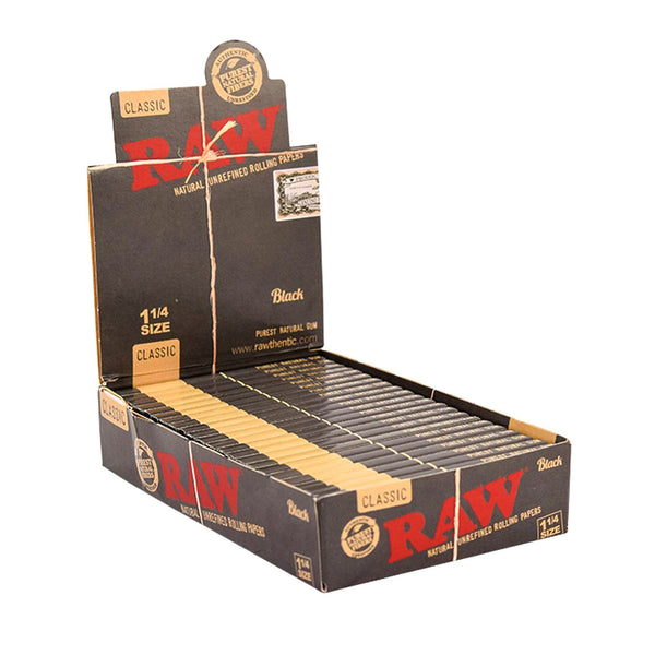 Raw - RAW Black Extra Fine Rolling Papers Box of 24 Packs - Default Title - 0