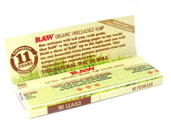 Raw - RAW Organic Hemp Rolling Papers Box of 24 Booklets - Default Title - 1