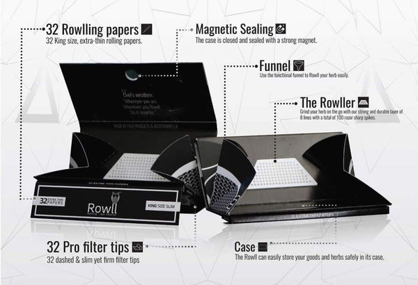 King Size Rolling Paper Kit (Display Box) by Rowll 5