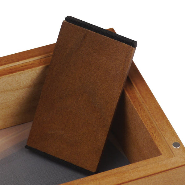 RYOT® - RYOT Glass Top Screen Box - Natural Finish - 5