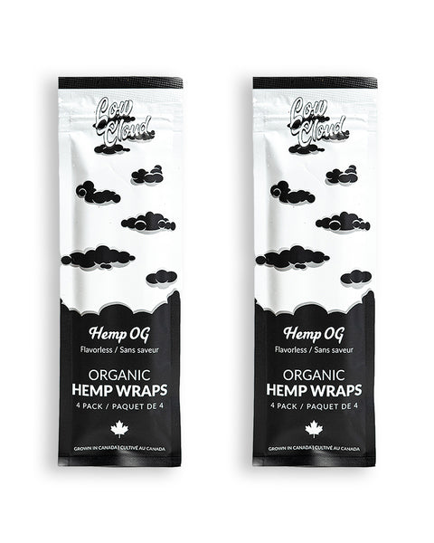 Low Cloud - Hemp OG Flavourless Organic Hemp Wraps 2 Packs 8 Wraps - Default Title - 0