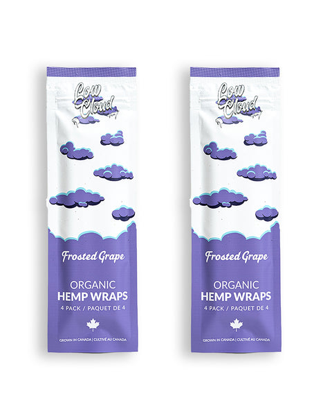 Low Cloud - Frosted Grape Organic Hemp Wraps 2 Packs 8 wraps - Default Title