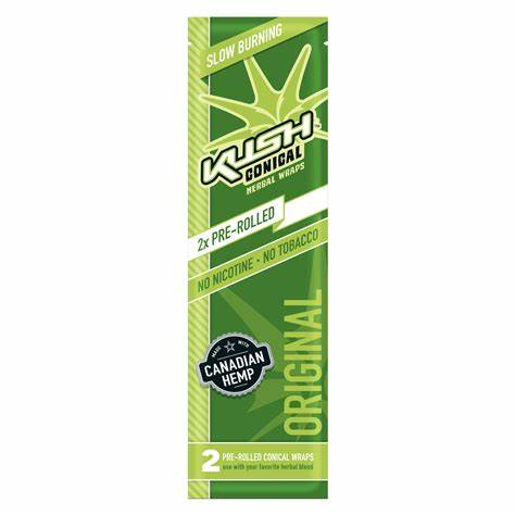 Kush - 2 Pack Kush Cones Hemp Wraps Box of 15 - Berries - 4