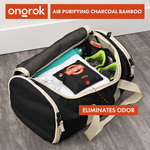 Ongrok - Air Purifying Charcoal Bamboo Bags - 200g - 4