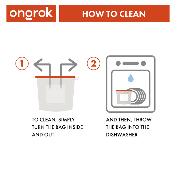 Ongrok - Silicone Storage & Decarboxylation Bags - 1500ml - 3