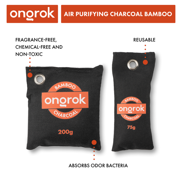 Ongrok - Air Purifying Charcoal Bamboo Bags - 200g - 1