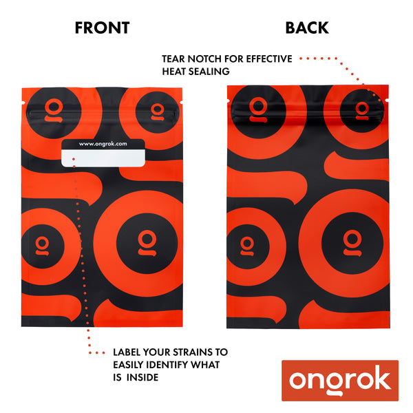 Ongrok - Smell Proof Mylar Bags 24 Pack - Multipack of 4 - 5