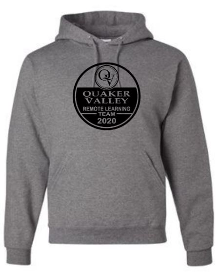 QUAKER VALLEY REMOTE LEARNING TEAM YOUTH & ADULT HOODED SWEATSHIRT