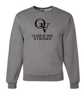 QV CLASS OF 2020 STRONG YOUTH & ADULT CREW NECK SWEATSHIRT