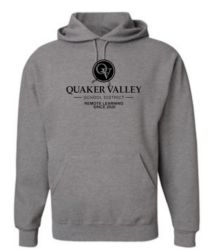 QUAKER VALLEY REMOTE LEARNING SINCE 2020 YOUTH & ADULT HOODED SWEATSHIRT