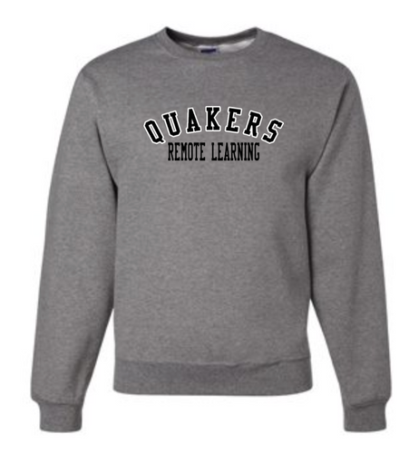 QUAKERS REMOTE LEARNING YOUTH & ADULT CREW NECK SWEATSHIRT
