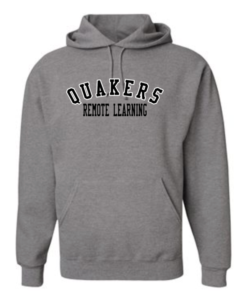 QUAKERS REMOTE LEARNING YOUTH & ADULT HOODED SWEATSHIRT