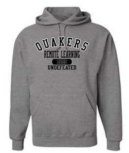 QUAKERS REMOTE LEARNING - UNDEFEATED YOUTH & ADULT HOODED SWEATSHIRT