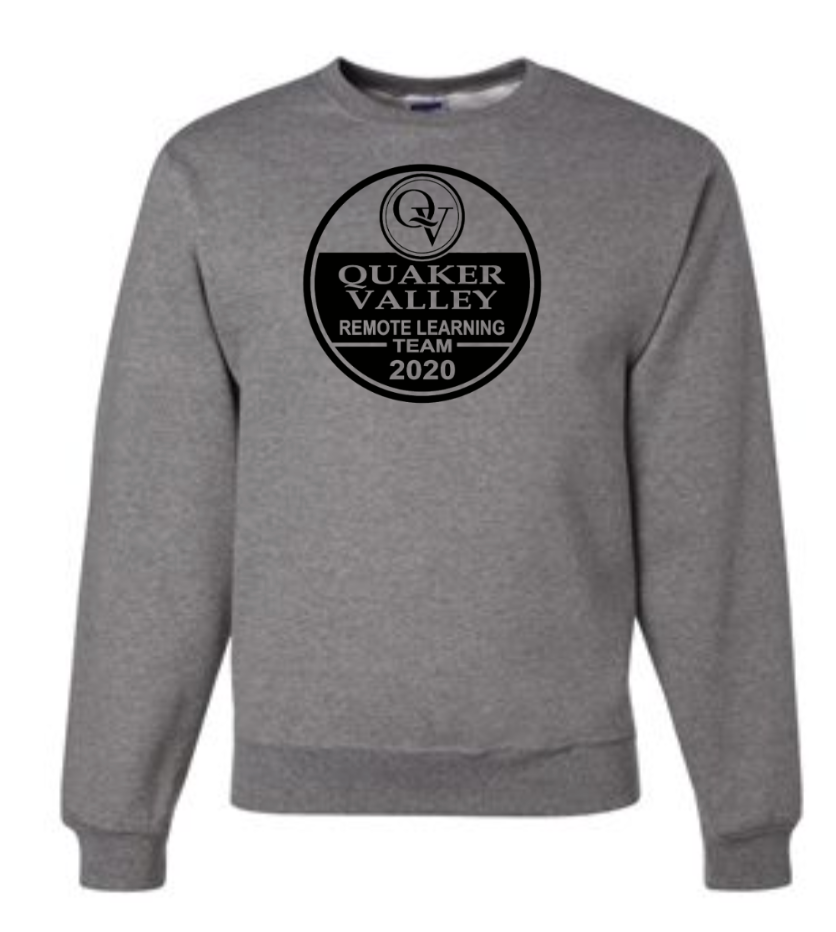 QUAKER VALLEY  REMOTE LEARNING TEAM YOUTH & ADULT CREW NECK SWEATSHIRT