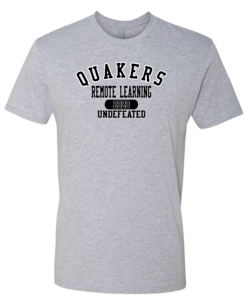 QUAKERS REMOTE LEARNING -UNDEFEATED YOUTH & ADULT SHORT SLEEVE T-SHIRT